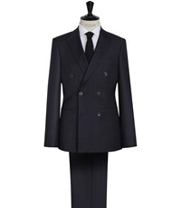 Reiss Platoon Pinstripe Double Breasted Suit In Navy