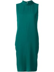 Maison Martin Margiela High Neck Sleeveless Dress Green