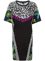 Marc Jacobs Printed Patchwork T Shirt Dress Black