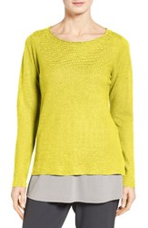 Eileen Fisher Women's Bateau Neck Organic Linen Sweater