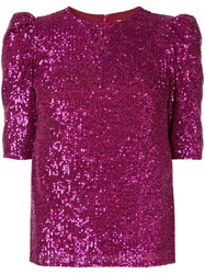 Rachel Gilbert Nancy Embellished Top Purple
