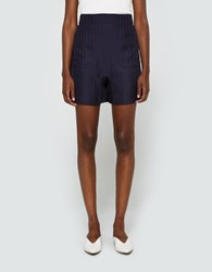 Acne Studios Sachi Tweed Shorts Midnight Blue