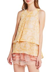 Bcbgeneration Tiered Paisley Tank Gold