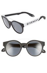 Givenchy Women's 50Mm Round Sunglasses Black White Black White