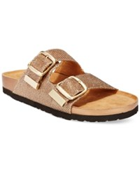 White Mountain Horizon Footbed Sandals Women's Shoes Bronze