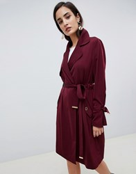 Lipsy Loose Duster Coat Red