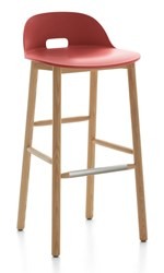Emeco Alfi Low Back Barstool Brown