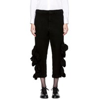Comme Des Garcons Black Wool Bulbous Attachments Trousers
