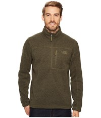 The North Face Gordon Lyons 1 4 Zip New Taupe Green Heather Men's Long Sleeve Pullover Gray