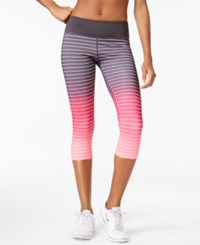 Ideology Performance Dip Dyed Striped Cropped Leggings Only At Macy's Flashmode