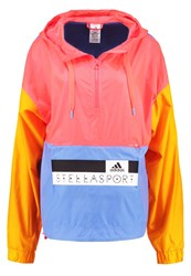 Adidas Performance Windbreaker Pop Radiant Gold Neon Blue Multicoloured