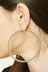 Forever 21 Twisted Hoop Earrings Gold