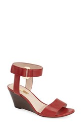 Women's Louise Et Cie 'Phiona' Leather Ankle Strap Wedge Sandal Fiesta Red