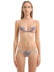 Christies Embroidered Tulle Triangle Bra