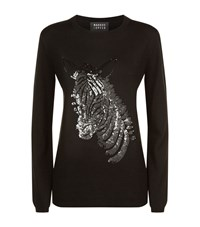 Markus Lupfer Sequin Zebra Natalie Jumper Female Black