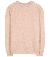 Acne Studios Dramatic Mohair And Wool Blend Sweater Pink