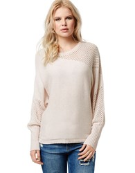 Buffalo David Bitton Blinkie Mixed Knit Sweater Oatmeal Heather