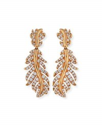 Mimi So Phoenix 18K Rose Gold Feather Earrings With Diamonds
