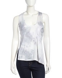 Stella And Jamie High Low Cutout Jersey Tank Tie