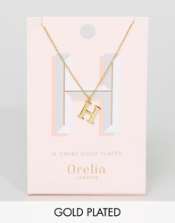 Orelia Gold Plated Large H Initial Necklace Gold