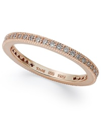 B. Brilliant 18K Rose Gold Over Sterling Silver Ring Cubic Zirconia Band Ring 3 8 Ct. T.W.