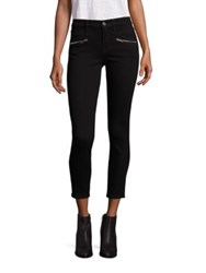 7 For All Mankind Ankle Skinny Zipper Jeans Black