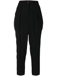 See By Chloe High Waisted Trousers Women Polyester Viscose 38 Black