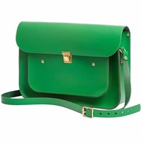 N'damus London Emerald Green 13 Inches Pocket Satchel