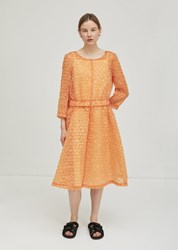 Ter Et Bantine Iridescent Textured Dress Orange