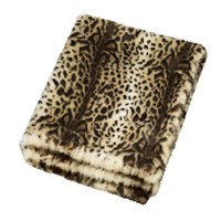 Helen Moore Faux Fur Throw 180X145cm Ocelot