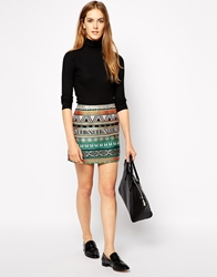Sessun Liane Embroidered Mini Skirt Multi