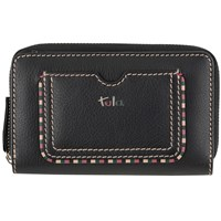 Tula Mallory Leather Zip Wallet Black