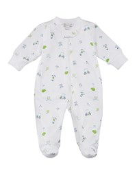 Kissy Kissy Daddy's Caddy Printed Zip Front Footie Playsuit Size Newborn 9M Multi