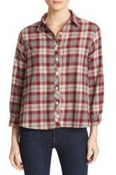 The Great Check Flannel Shirt Red