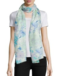 Bindya Brushstroke Print Cashmere And Silk Scarf
