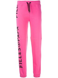 Filles A Papa Kenny Cotton Track Pants Pink Purple