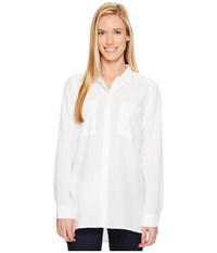 Exofficio Museo Tunic White Women's Long Sleeve Button Up