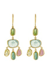 Pippa Small 18Kt Yellow Gold Earrings With Tourmaline Gr. One Size