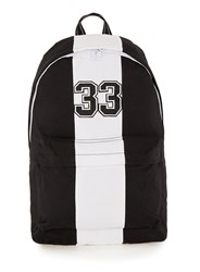 Topman Black And White Striped Varsity Rucksack