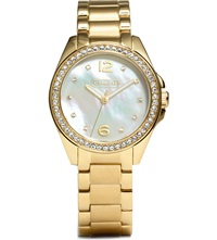 Coach Mother Of Pearl Watch 14501657 Peal