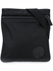 Giorgio Armani Medium 'Piattina' Messenger Bag Black