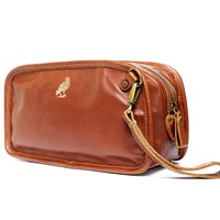 Satch And Fable Leather Dopp Kit Travelbrown