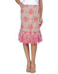 Denny Rose Knee Length Skirts Fuchsia