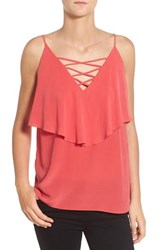 Women's Bailey 44 'Indian Ocean' Lace Up Silk Camisole