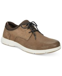 Johnston And Murphy Men's Warren Perforated Oxfords Men's Shoes Taupe