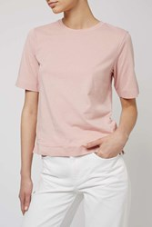 Cotton Taped Tee By Boutique Pale Pink