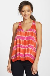 Hard Tail Split Racerback Tank Pink