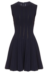 Azzedine Alaia Dress With Holes Navy