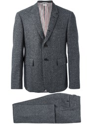 Thom Browne Classic Suit In Donegal Wool Grey