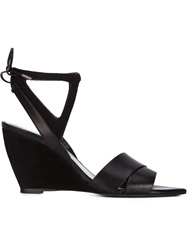 Narciso Rodriguez Wedge Sandals Black